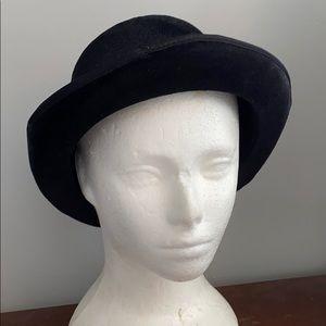 ✅ Stylish Velvet Bowler Hat Hipster Cap Chic Black